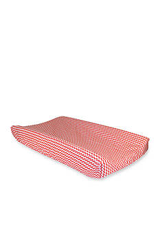 Trend Lab Coral and White Chevron Changing Pad Cover - Online Only