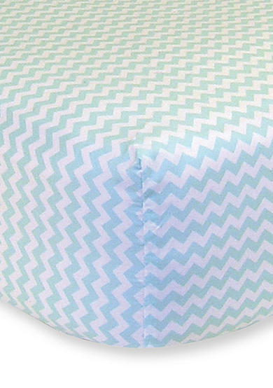 Trend Lab® Mint and White Chevron Fitted Crib Sheet