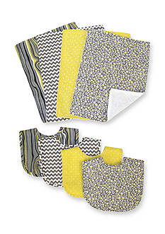 Trend Lab® Pattern 4-Pack Bib and 4-Pack Burp Cloth Bundle