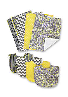 Trend Lab® Hello Sunshine Bib and Burp Cloth Set