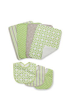 Trend Lab® Playful Print 3-Pack Bib and 4-Pack Burp Cloth Bundle