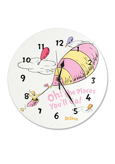 Trend Lab® Dr. Seuss Oh, The Places You'll Go Pink Wall Clock - Online Only