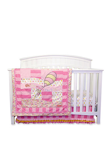 Trend Lab® Dr. Seuss™ Oh, The Places You'll Go Pink 3-Piece Crib Bedding Set