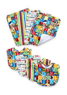 Trend Lab® Dr. Seuss™ Alphabet Seuss 4 Pack Bib and 4 Pack Burp Cloth Bouquet Set