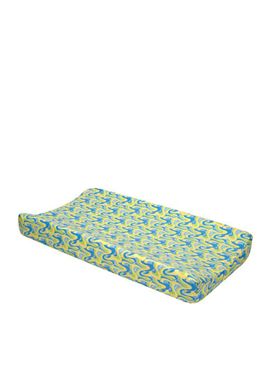 Trend Lab® Dr. Seuss Oh, The Places You'll Go! Blue Changing Pad Cover