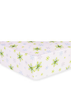 Trend Lab Dr. Seuss The Grinch Flannel Fitted Crib Sheet