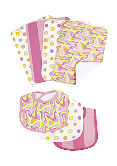 Trend Lab® Dr. Seuss™ Oh, The Places You'll Go Pink 3-Pack Bib and 4-Pack Burp Cloth Set