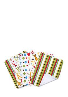 Trend Lab Dr. Seuss Abc 5 Pack Burp Cloth Bundle Box Set