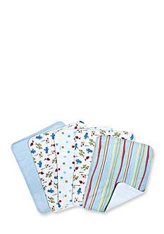 Trend Lab Dr. Seuss One Fish Two Fish 5 Pack Burp Cloth Bundle Box Set