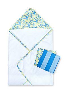 Trend Lab Dr. Seuss Oh, the Places You'll Go! Blue 3 Pack Bath Bundle Box Set