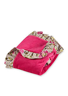 Waverly Jazzberry Ruffled Receiving Blanket