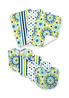 Waverly Solar Flair 4 Pack Bib and 4 Pack Burp Cloth Set