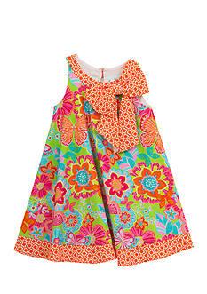 Rare Editions Mixed Print Dress