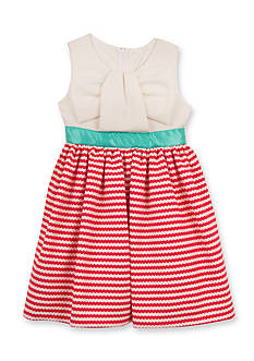 Rare Editions Solid to Stripe Knit Dress Toddler Girls