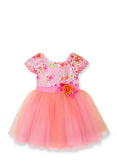 Rare Editions Floral Lace Ballerina Dress Toddler Girls