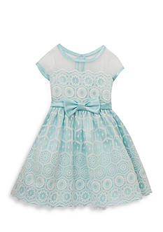 Rare Editions Floral Lace Overlay Dress Toddler Girls