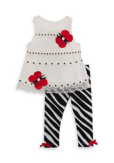 Rare Editions Butterfly Top and Legging 2-Piece Set Toddler Girls