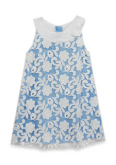 Rare Editions Lace Shift Dress Toddler Girls