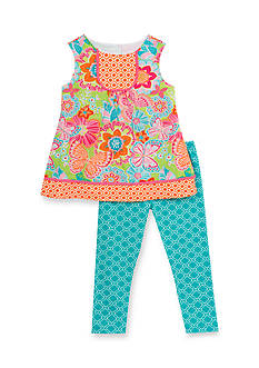 Rare Editions Floral Top and Capris Set Toddler Girls