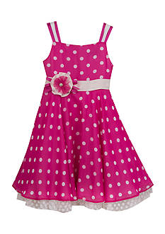 Rare Editions Chiffon Polka Dot Dress Toddler Girls