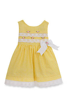 Rare Editions Seersucker And Eyelet Dress Toddler Girls