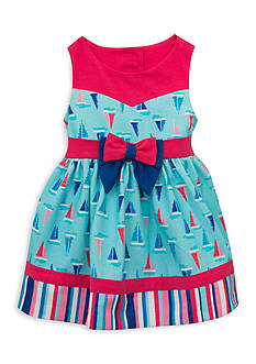 Rare Editions Sailboat Dress Toddler Girls
