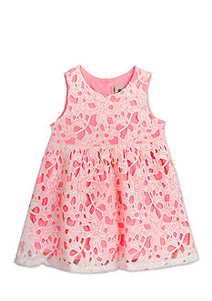 Rare Editions Lace Overlay Dress Toddler Girls