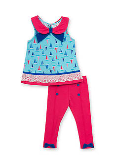 Rare Editions 2-Piece Sailboat Top and Leggings Set