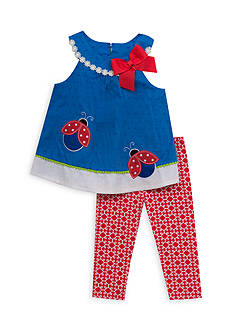 Rare Editions 2-Piece Ladybug Shirt and Legging Set