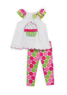 Rare Editions 2-Piece Cupcake Top and Legging Set