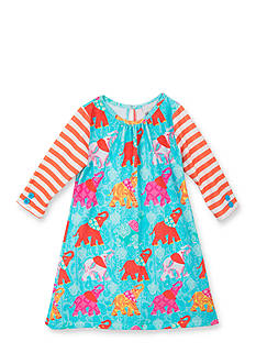 Rare Editions Elephant Shift Dress Girls 4-6x