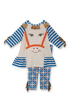 Rare Editions 2-Piece Horse Fringe Top and Legging Set Toddler Girls