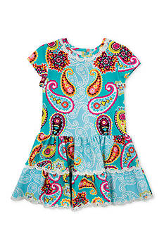 Counting Daisies by Rare Editions Paisley Tiered Dress Toddler Girls