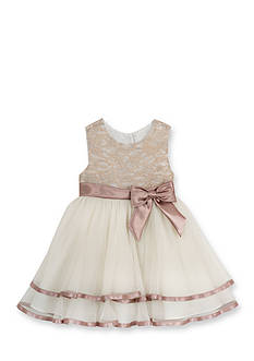 Rare Editions Lace to Mesh Ballerina Dress Toddler Girls