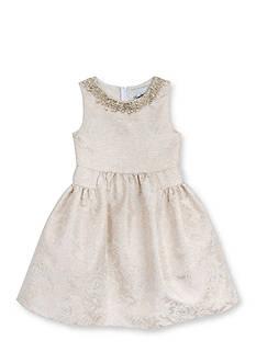 Rare Editions Floral Brocade Dress Toddler Girls