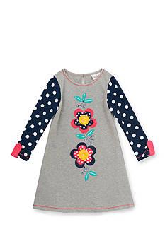 Rare Editions Polka Dot Flower Dress Toddler Girl