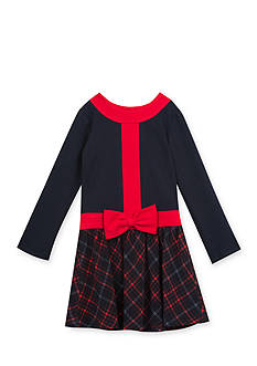 Rare Editions Knit Plaid Dress Toddler Girls
