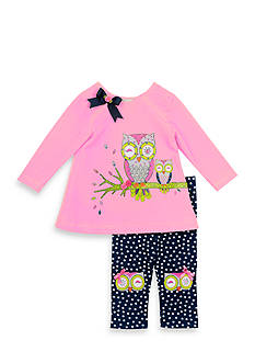 Rare Editions Owl Tunic And Legging Set Toddler Girls