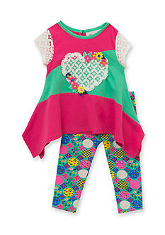 Rare Editions 2-Piece Lace Heart and Leggings Set Toddler Girls