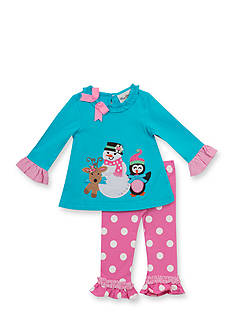 Rare Editions 2-Piece Snowman and Friends Top and Leggings Set