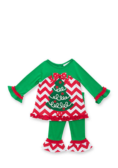 Rare Editions 2-Piece Christmas Tree and Leggings Set
