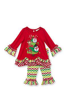 Rare Editions 2-Piece Christmas Shirt and Chevron Leggings Set