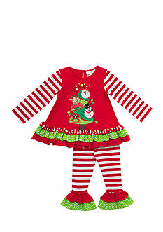 Rare Editions 2-Piece Christmas Tree Top and Leggings Set