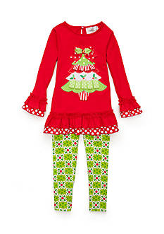 Rare Editions Christmas Tree Set Toddler Girls