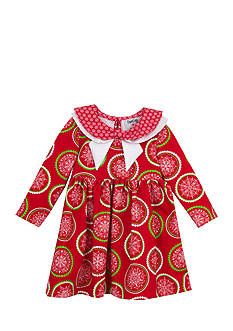 Rare Editions Snowflake Print Dress Toddler Girls