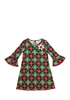 Rare Editions Holiday Floral Dress Toddler Girls