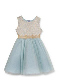 Rare Editions Glitter Social Dress Toddler Girls