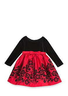 Rare Editions Velvet Matte Social Dress Toddler Girls