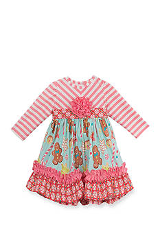 Rare Editions Gingerbread Dress Toddler Girls