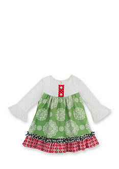 Rare Editions Mixed Print Knit Dress Infant/Baby Girls